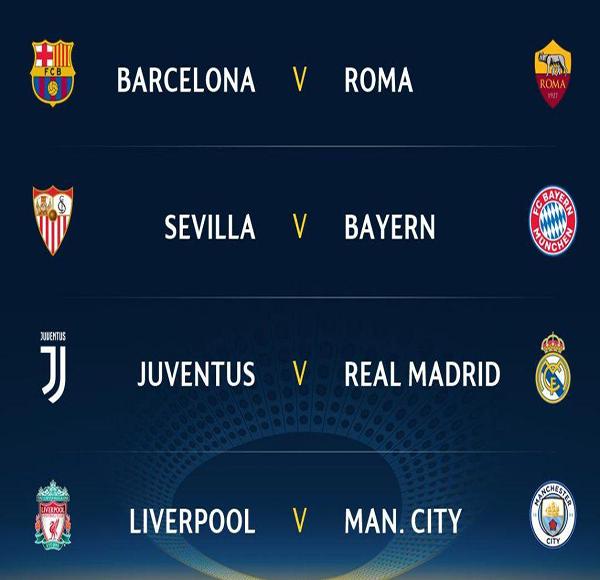 قرعة ربع نهائي دوري أبطال اوروبا 2018