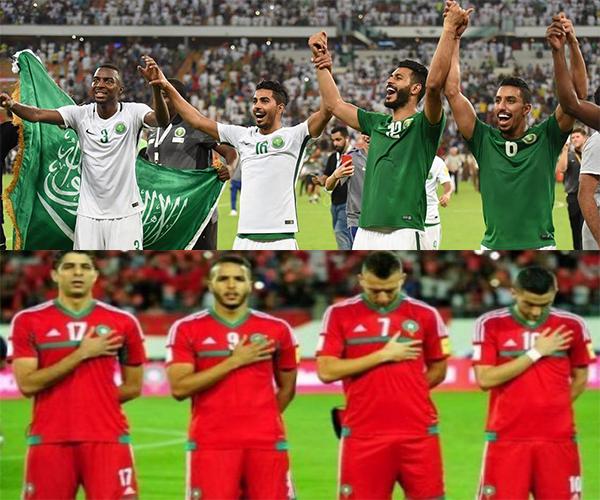 السعودية و المغرب في كأس العالم