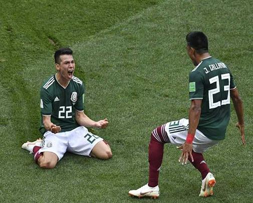 المكسيك تفوز على ألمانيا