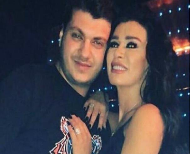 نادين الراسي مع ابنها مارك حدشيتي