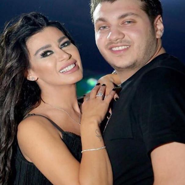نادين الراسي و ابنها مارك