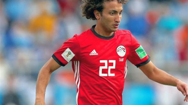 لاعب منتخب مصر عمرو وردة