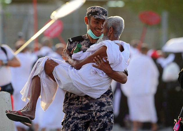 رجل أمن سعودي في الحج